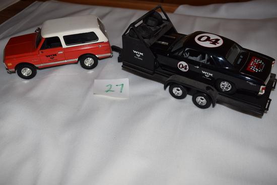67 Chevelle on trailer & '66 truck
