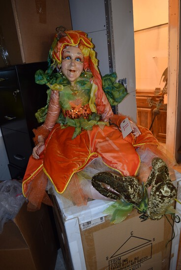 """Katherine's Collection Whimsical Fall Lady """"Trick or Treat Mae"""" *"""