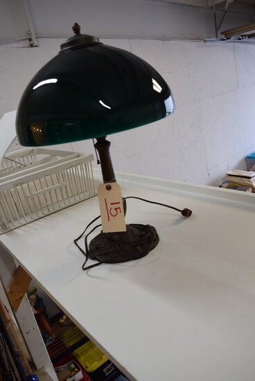 Green Case Glass Desk Lamp *