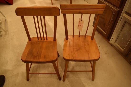2 Children's Wooden Chairs