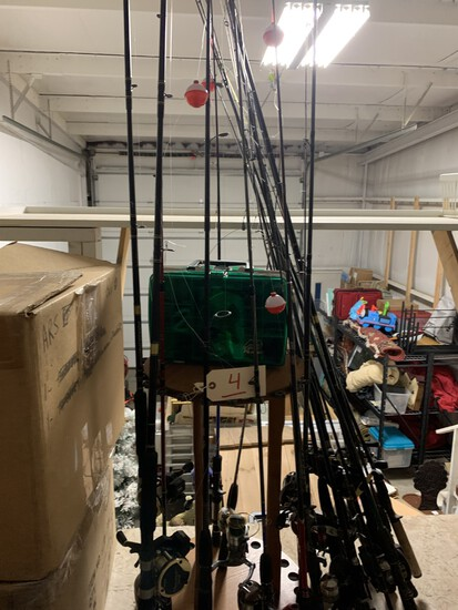 Choice of 23 Fishing Rods & Reels Daiwa, Shakespeare, Zebco (open and closed)