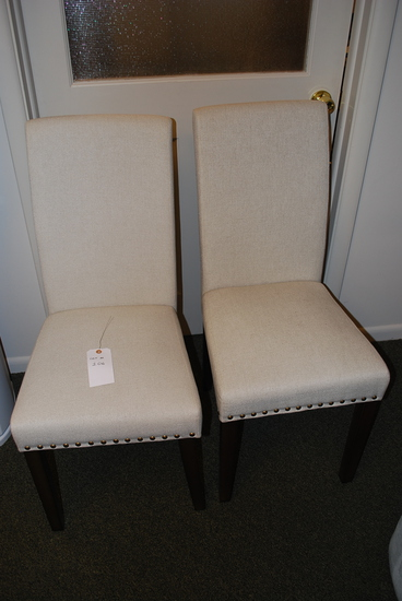 High Back Chairs (Pair)