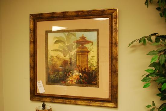 Framed Artwork Garden Scene