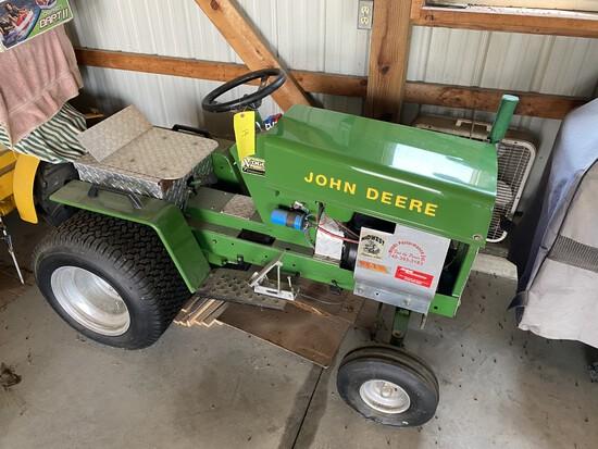 John Deere Pulling Garden Tractor