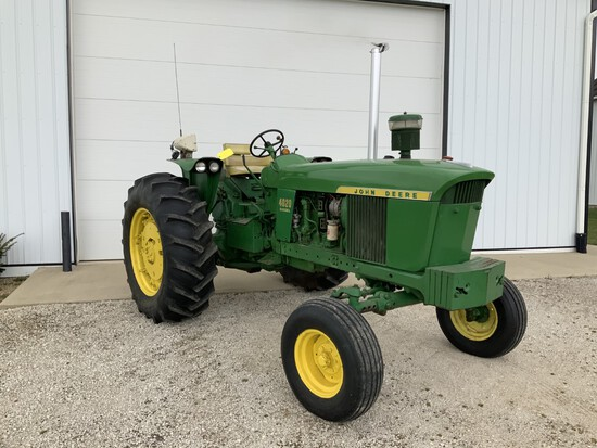 John Deere 4020 Diesel Tractor w/WF, frt. wts., 18.4-34 rubber 5314 hrs. (SN173793)