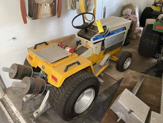 Cub Cadet w/16 HP block & skid bars. This was a successful puller in the 1000-1100# class.
