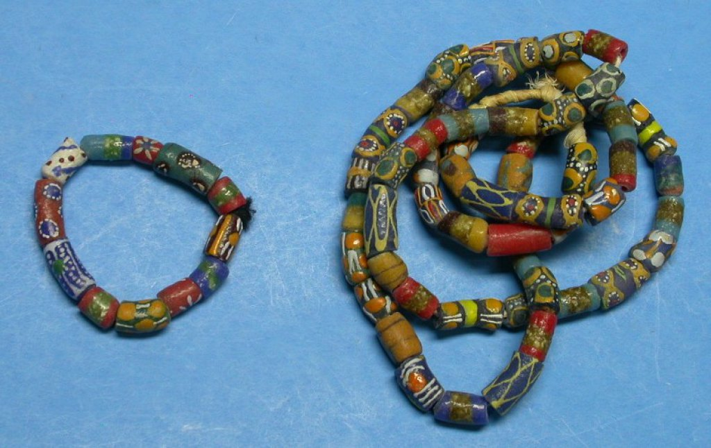 Antique Trade Bead Necklace and Bracelet (A)
