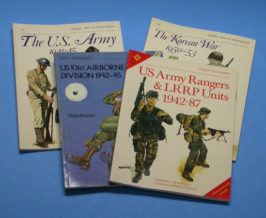4 Book Group lot, Osprey Books on US Army Units (A