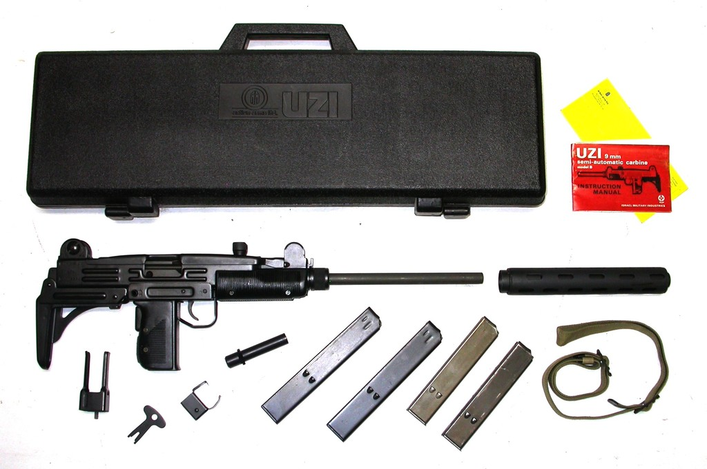 IMI/Action Arms Uzi Model B Semi Automatic Rifle New In Box with Accessories, 9mm SN:SA71259 (CYM1)