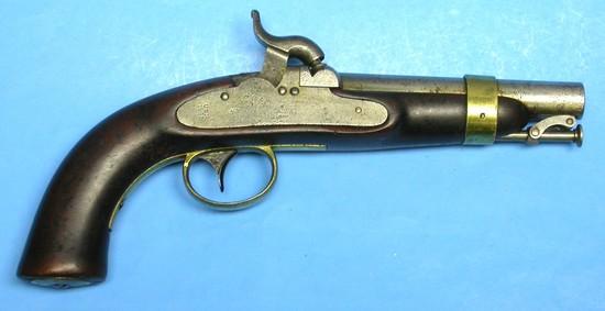 US Navy Model 1842 .54 Caliber Percussion Pistol - Antique - no FFL needed (XJE1)