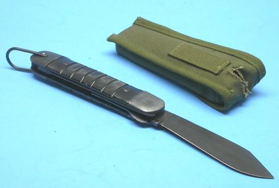 US Navy WWII era Aviation Survival Knife, Pouch & Box (XJE)