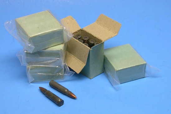 Five 15-Round Boxes of Czech 7.62x45mm Ammunition for the VZ-52 Rifle - (JAB)