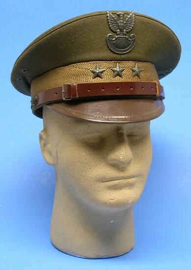 Polish Military Army Officer Visor Hat (KID)