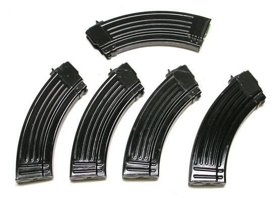 Chinese Military Flat Back AKM Magazines Lot of 5 (JGD)