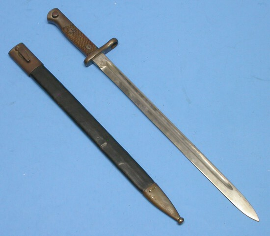 Spanish Military WWI era M1914 Mauser Rifle Bayonet (KAR)