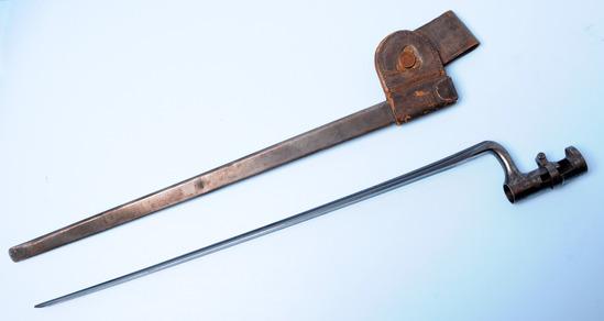 US Military 1870-1890s Springfield M1873 Trapdoor Rifle Socket Bayonet (PD)