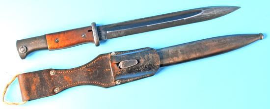German Military WWII Matching 98k Mauser Rifle Bayonet (SRW)