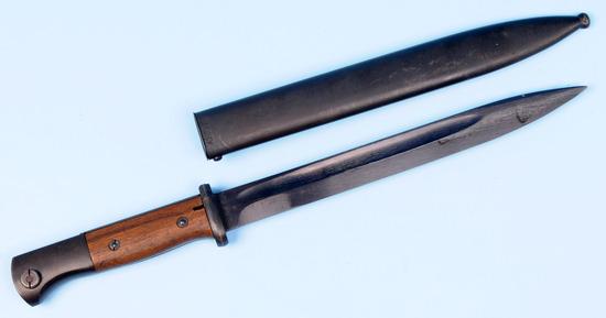 German Military WWII era 98k Mauser Rifle Bayonet (MAZ)