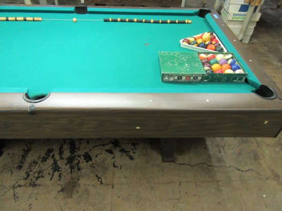 CUE MASTER SLATE POOL TABLE C Auctions Online Proxibid - Master pool table