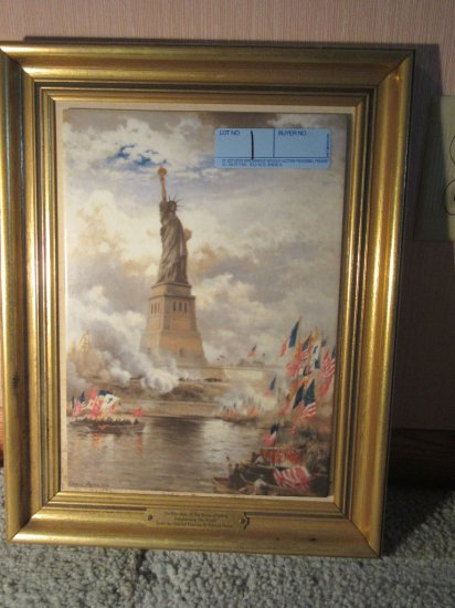 UNVEILING OF THE STATUE OF LIBERTY PRINT FROM AN ORIGINAL PAINTING BY EDWAR