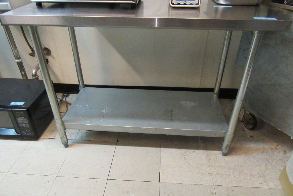 FOOT STAINLESS STEEL WORK TA Auctions Online Proxibid - 4 foot stainless steel table
