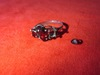 SILVER 925 GARNET-LIKE RING. 1 STONE LOOSE