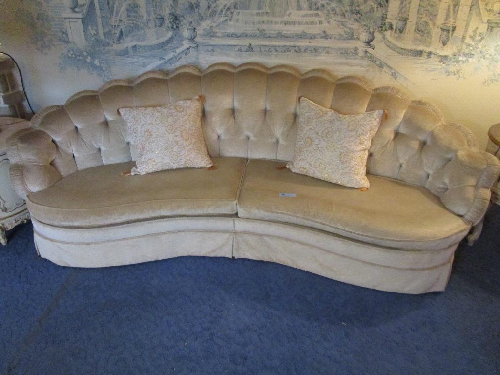 Lot Ecker Shane Furniture Company Of Cleveland Velour Sofa