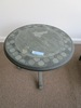 DECORATIVE STONE ROUND ACCENT TABLE