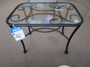 GLASS TOP DECORATIVE END TABLE