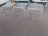 SET OF 3 GLASS TOP ACCENT TABLES