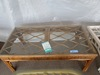 GLASS TOP REED RECTANGULAR COFFEE TABLE