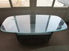 GLASS TOP DECORATIVE COFFEE TABLE BY LLOYD FLANDERS