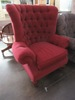 RED HIGH BACK ARMCHAIR