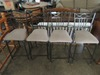 METAL BAR STOOLS. ONE BENT