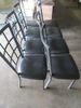 SET OF 8 METAL CHAIRS WITH PADDED SEATS