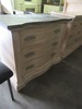 HICKORY WHITE DRESSER WITH MARBLE TOP