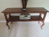 ETHAN ALLEN WOOD SOFA TABLE