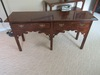 HENREDON DARK OAK TWO DRAWER SOFA TABLE