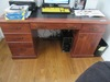 WOOD KNEEHOLE OFFICE DESK