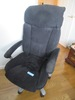 VELOUR SWIVEL OFFICE CHAIR
