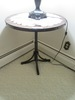 METAL AND WOOD TOP ADJUSTABLE TABLE