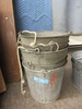 5 GALVANIZED  BUCKETS WITH HANDLES