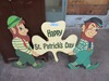 HAPPY SAINT PATRICK'S DAY WOODEN YARD SIGN