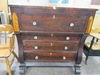 VINTAGE GLASS PULL CHEST OF DRAWERS