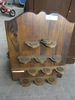 2 WOOD KNICKKNACK SHELVES