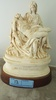 CERAMIC REPRODUCTION CARVING BY MICHELANGELO PIETA WITH WOODEN BASE