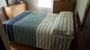 OAK FINISH 2 PIECE BEDROOM SUITE - FULL SIZE BED, DRESSER WITH THE MIRROR,