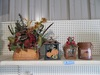 DECORATIVE ITEMS - TIN LANTERNS AND FALL FLORAL
