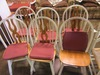 6 PAINTED KITCHEN CHAIRS