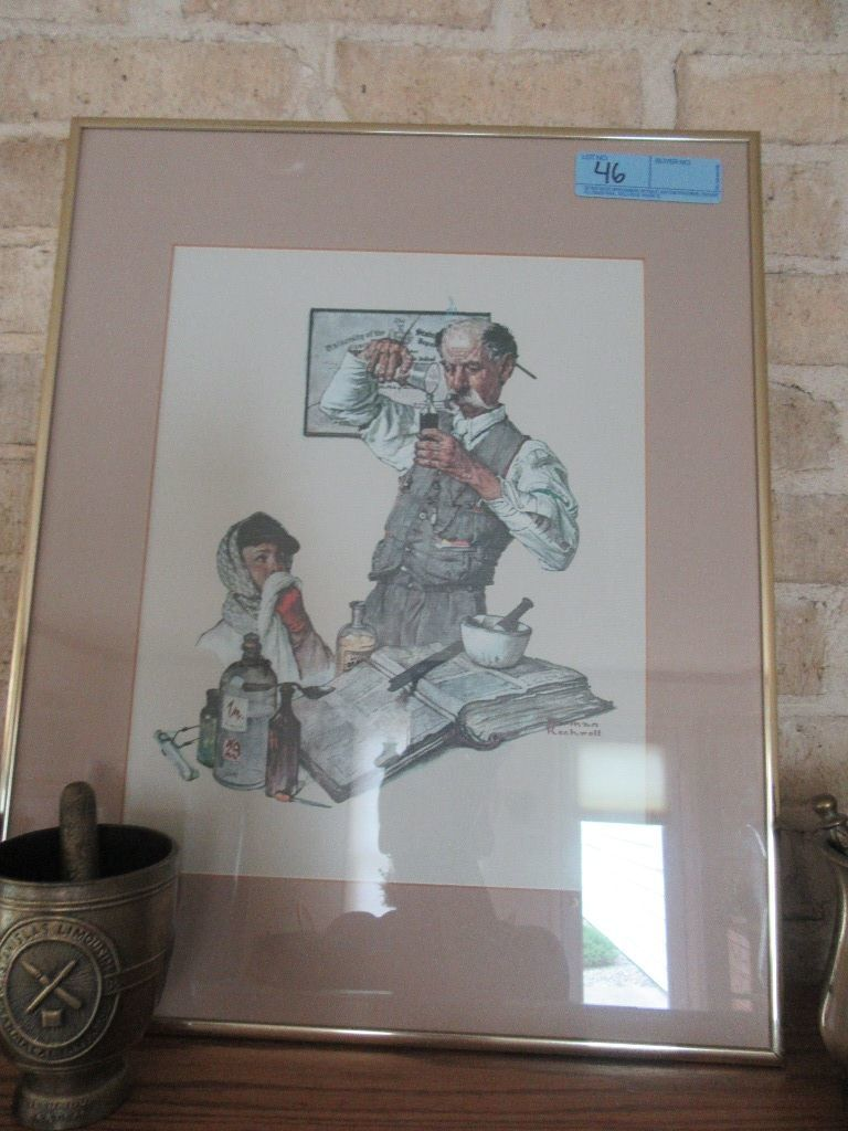 Lot Norman Rockwell Print Of The Pharmacist Proxibid Auctions